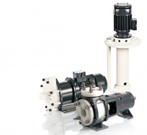Horizontal and vertical plastic centrifugal pumps