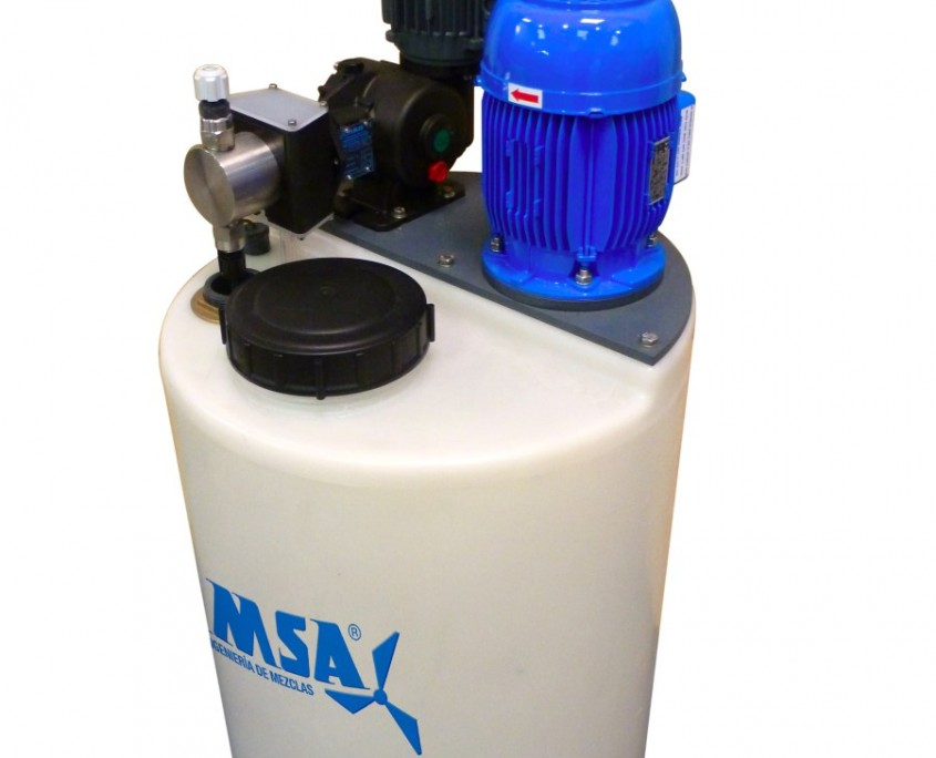 EDT-200 with high speed mixer and metering pump