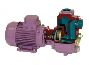 Open impeller centrifugal pump with mechanical seal