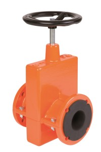 Mechanical pinch valve with lock by handwheel