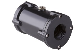 VMP pinch valve with connection body made of black POM